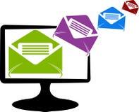 Il sistema invia il logo della posta Fotografia Stock