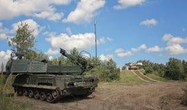 Il sistema missilistico di Buk è una famiglia di automotore fotografia stock libera da diritti