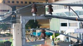 Il sistema per la linea di trasmissione elettrica Immagine Stock