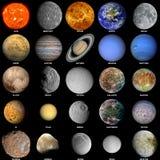 Il sistema solare aggiornato Fotografie Stock