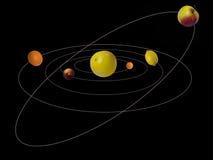 Il sistema solare del sistema Fotografia Stock Libera da Diritti
