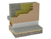 Il sistema stratificato dell'isolamento termico della muratura illustrazione di stock