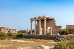 Il sito archeologico di Mileto una città del greco antico sulla costa occidentale dell'Anatolia immagini stock libere da diritti