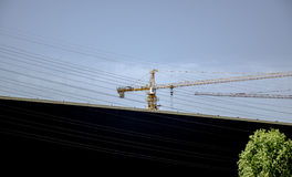 Il sito della costruzione di edifici, Pechino Fotografia Stock Libera da Diritti