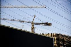Il sito della costruzione di edifici, Pechino Immagini Stock