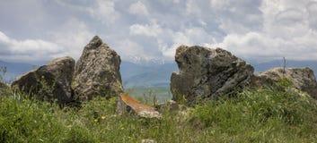 Il sito di Stonehenge dell'armeno ha chiamato Karahunj immagini stock libere da diritti