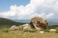 Il sito di Stonehenge dell'armeno ha chiamato Karahunj immagine stock libera da diritti