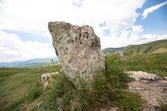 Il sito di Stonehenge dell'armeno ha chiamato Karahunj fotografie stock