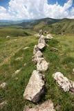 Il sito di Stonehenge dell'armeno ha chiamato Karahunj Fotografia Stock