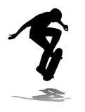 Il skateboarder che salta, illustrazione di vettore Immagini Stock Libere da Diritti