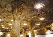 Il soffitto è fatto di rattan fotografia stock