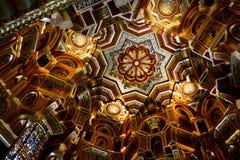 Il soffitto arabo della stanza nel castello di Cardiff fotografia stock libera da diritti