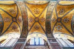 Il soffitto del Hagia Sophia a Costantinopoli, Turchia Immagine Stock