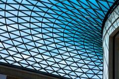 Il soffitto di vetro di British Museum Londra, Regno Unito Fotografia Stock Libera da Diritti