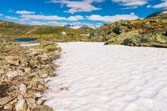 Il Sognefjellsvegen, il più alta strada del passo di montagna in Europa settentrionale, Norvegia Fotografia Stock Libera da Diritti