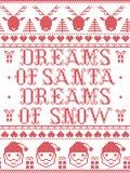 Il sogno del modello di Natale in modo da Santa Dreams del modello senza cuciture del canto natalizio della neve ha ispirato entr illustrazione vettoriale