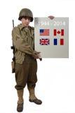 Il soldato americano mostra un segno immagine stock libera da diritti