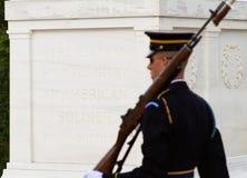 Il soldato perlustra la tomba Immagini Stock Libere da Diritti