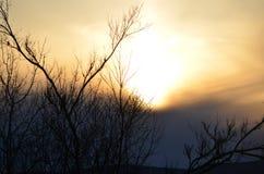 Il sole è potente in primavera in Wilton New Hampshire Fotografia Stock
