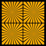 Il sole arancio rays l'effetto sul nero Fotografia Stock Libera da Diritti