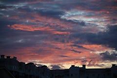 Il sole Backgraund, bello, cielo di tramonto Fotografie Stock Libere da Diritti