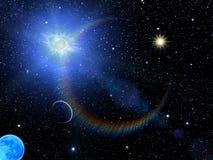 Il sole del cielo stars la costellazione Immagini Stock