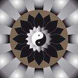 Il sole di yang e del yin Immagini Stock Libere da Diritti