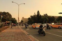 il sole ha messo vicino al parco di Jieshou a 2011 Immagine Stock