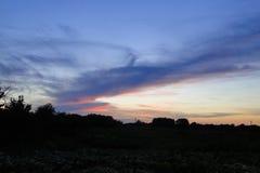 Il sole ha superato l'orizzonte Fotografie Stock