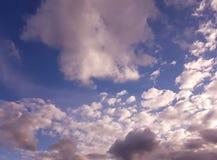 Il sole, il cielo, nuvole Fotografia Stock Libera da Diritti