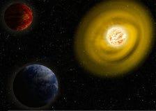 Il sole l'illustrazione gigante rossa Elementi di questa immagine ammobiliati dalla NASA Immagini Stock