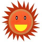 Il sole sorridente ha fatto l'argilla del modulo Immagine Stock Libera da Diritti