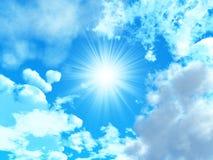 Il sole su un cielo blu Immagine Stock Libera da Diritti