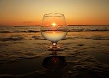 Il sole in un vetro Fotografia Stock Libera da Diritti