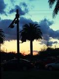 Il sole va giù Fotografia Stock Libera da Diritti