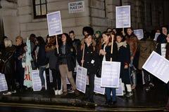 Il solo marzo delle donne nel recupero di Londra la notte 2014 Immagine Stock Libera da Diritti