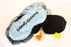 Il sonno maschera i sogni dolci fotografie stock