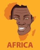 Il sorriso del fronte del vettore dell'Africa, manifesto Illustrazione Vettoriale