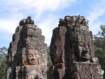 Il sorriso di Bayon Seim raccoglie, la Cambogia Fotografia Stock