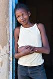 Il sorriso di povertà Fotografie Stock Libere da Diritti