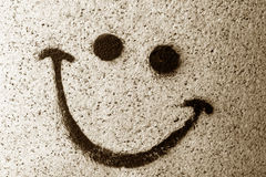 Il sorriso dipinto sulla parete Fotografia Stock Libera da Diritti