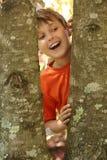 Il sorriso, l'aria è fresco & puro Fotografia Stock Libera da Diritti