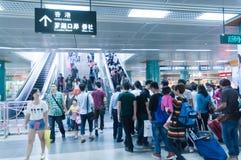 Il sottopassaggio di Luobao allinea interno Immagine Stock Libera da Diritti