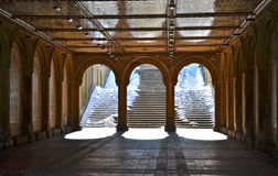 Il sottopassaggio pedonale a Bethesda Terrace, Central Park, New York. Fotografia Stock