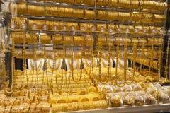 Il souk o il mercato dell'oro della città del Dubai, Deira Gli Emirati Arabi Uniti fotografia stock