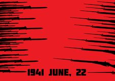 Il Soviet ed il tedesco rapina sui precedenti rossi fotografie stock