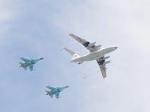 IL-78 и 2 Su-34 Стоковое Фото