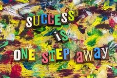 Il successo è incoraggiamento assente di punto immagini stock