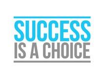 il successo è un concetto choice del segno del testo illustrazione di stock