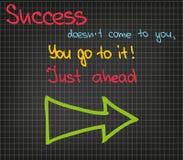 Il successo non viene a voi Immagine Stock